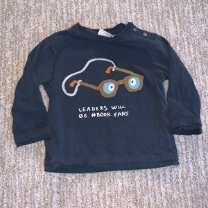 zara long sleeve tee size 9-12 m